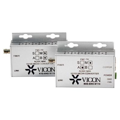 Vicon FMC-TRM 10/100 mbps Ethernet, 2-port AC/DC powered mini media converter