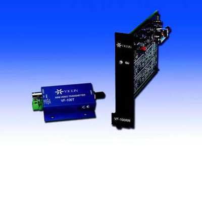 Vicon VF-100T fibre optic, telemetry receiver, transmitter, transceiver with video, power and optical diagnostics