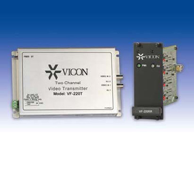 Vicon VF-220R video receiver with video, power and optical diagnostics