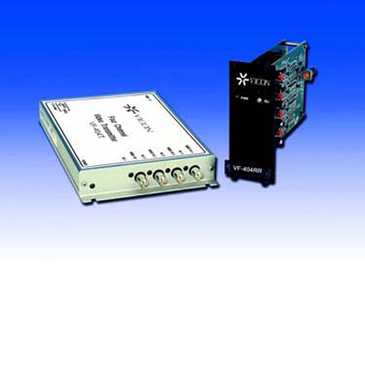 Vicon VF-404R video receiver four-channel FM fiber-optic video transmission system