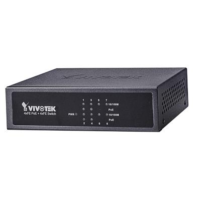 VIVOTEK AW-FET-081B-065 unmanaged PoE 4xFE switch