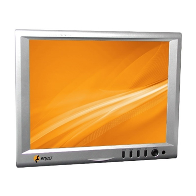"Eneo VMC-10.4LED-CP 10.4"" (26.4cm) LCD Monitor, 1024x768, LED, 12VDC, Pedestal, Silvergrey"