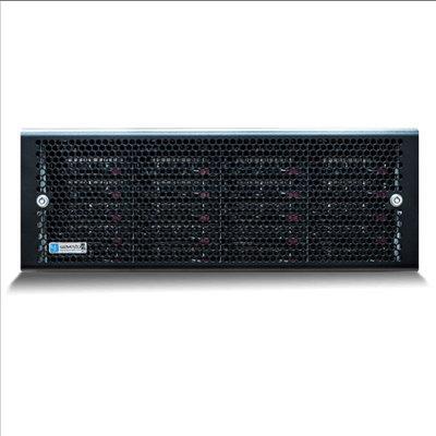 Wavestore X424-240PU24-HR-8G-NA-D11 4U rack-mount NVR, 240TB storage, 2,400Mbps, HyperRAID and EcoStore ready, dual PSU