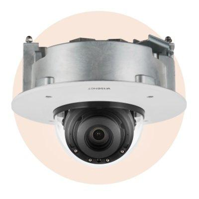 Hanwha Techwin XND-8082RF 6MP Flush Mount IR Network Dome Camera
