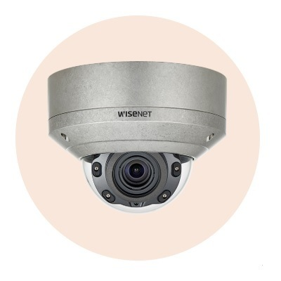 Hanwha Techwin America XNV-8080RS 5M Stainless Vandal-Resistant Network IR Dome Camera