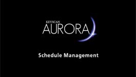 Keyscan Aurora Schedule Management for Setting & Editing Time Zones