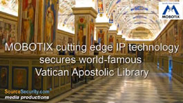 MOBOTIX DualNight M12D IP Surveillance Camera With RFID Technology Secures Vatican Library