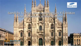 Enzo Hruby Foundation & Samsung Secures a Church in Milan with Latest Video Surveillance Technology
