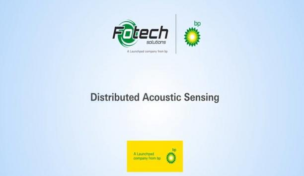 How does a distributed acoustic sensor monitor a perimeter or border?