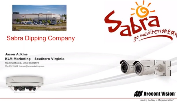 Arecont Vision case study - Sabra Dipping Company, White Plains, NY