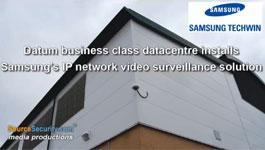 Samsung IP Network Cameras with Varifocal Lens & IR LED's to Secure Datum Data Center