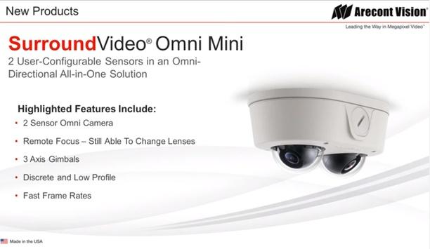 Arecont Vision launch SurroundVideo Omni Mini