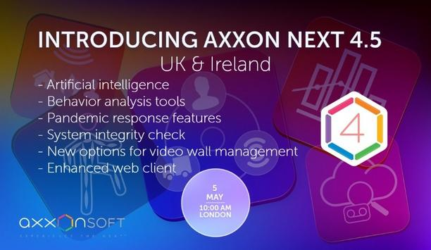 Axxon Soft to host a webinar on the Introduction to the Axxon Next 4.5 system - UK